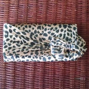 Leopard Clutch /Shoulder or Chain Handle Handbag